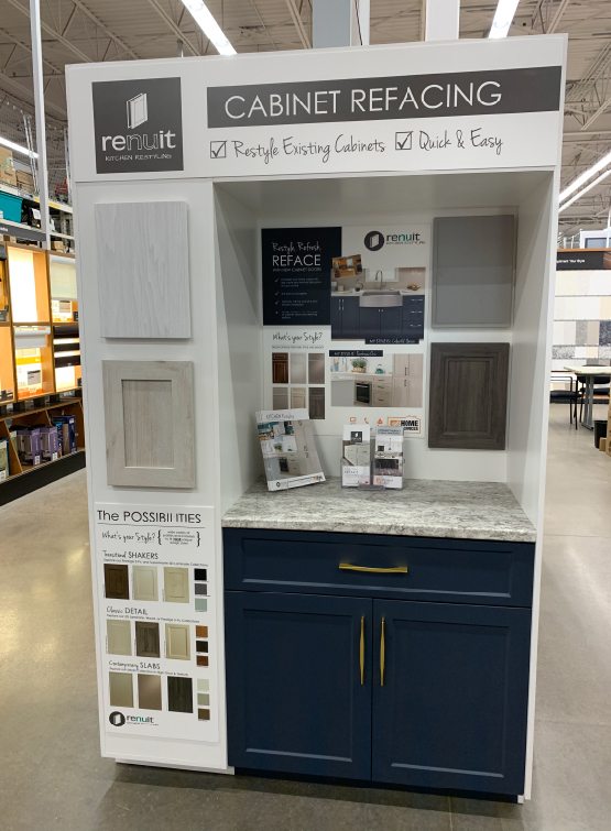 Renuit the home depot canada store display